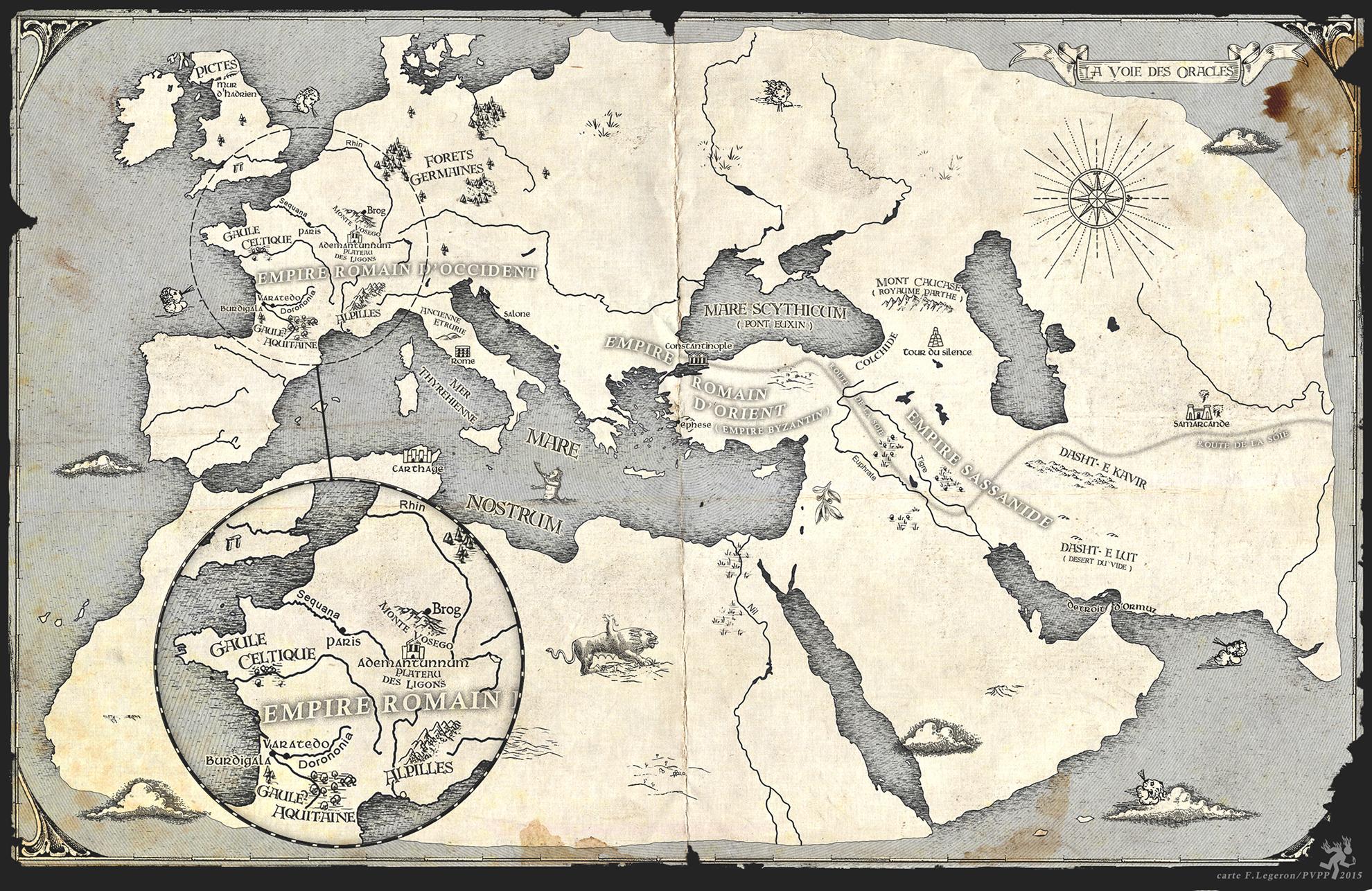 Carte pour La Voie des Oracles